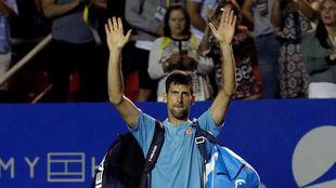 Djokovic se despide de las pistas de Acapulco
