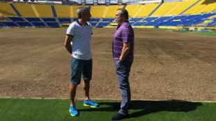 Quique Seti�n y Miguel �ngel Ram�rez hablan en el Estadio de Gran...