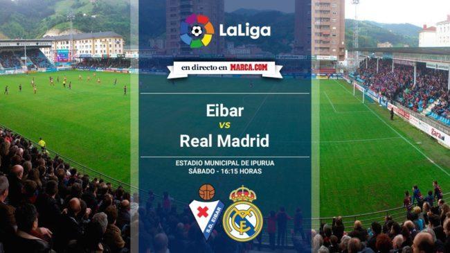 Eibar vs Real Madrid en directo