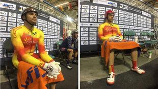 Pablo Jaramillo y Edu Santas antes de salir a competir en Los...