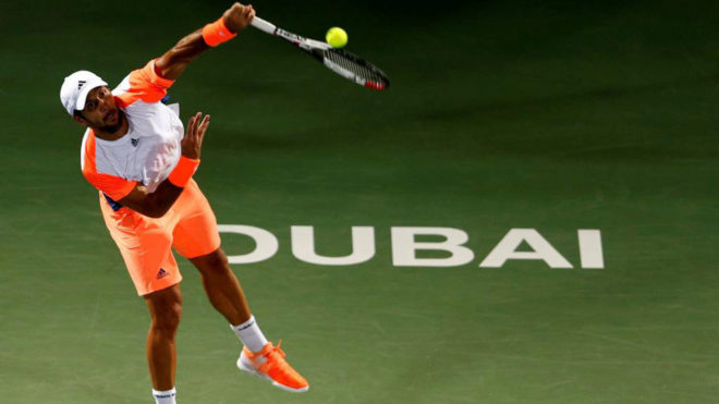 Fernando Verdasco en la final de Dubái ante Murray.