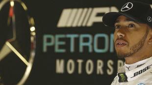 Lewis Hamilton, durante los test de pretemporada