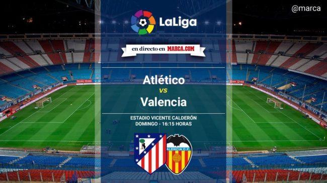 Atlético de Madrid vs Valencia en directo