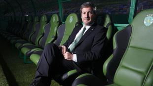 Bruno de Carvalho presidente del Sporting de Portugal.