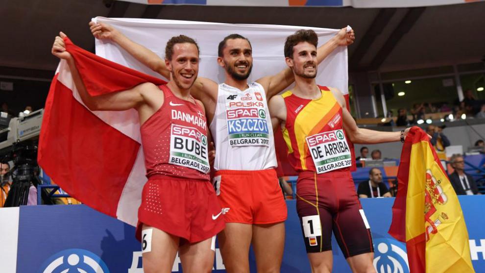 El podio de 800: Bube, Kszczot y Álvaro de Arriba