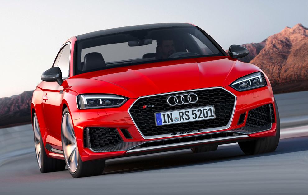 El Audi RS 5 Coupé 2017 llega con un nuevo motor TFSI de 450 CV