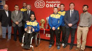 Presentación en Madrid de los cuartos de final de la Champions en...