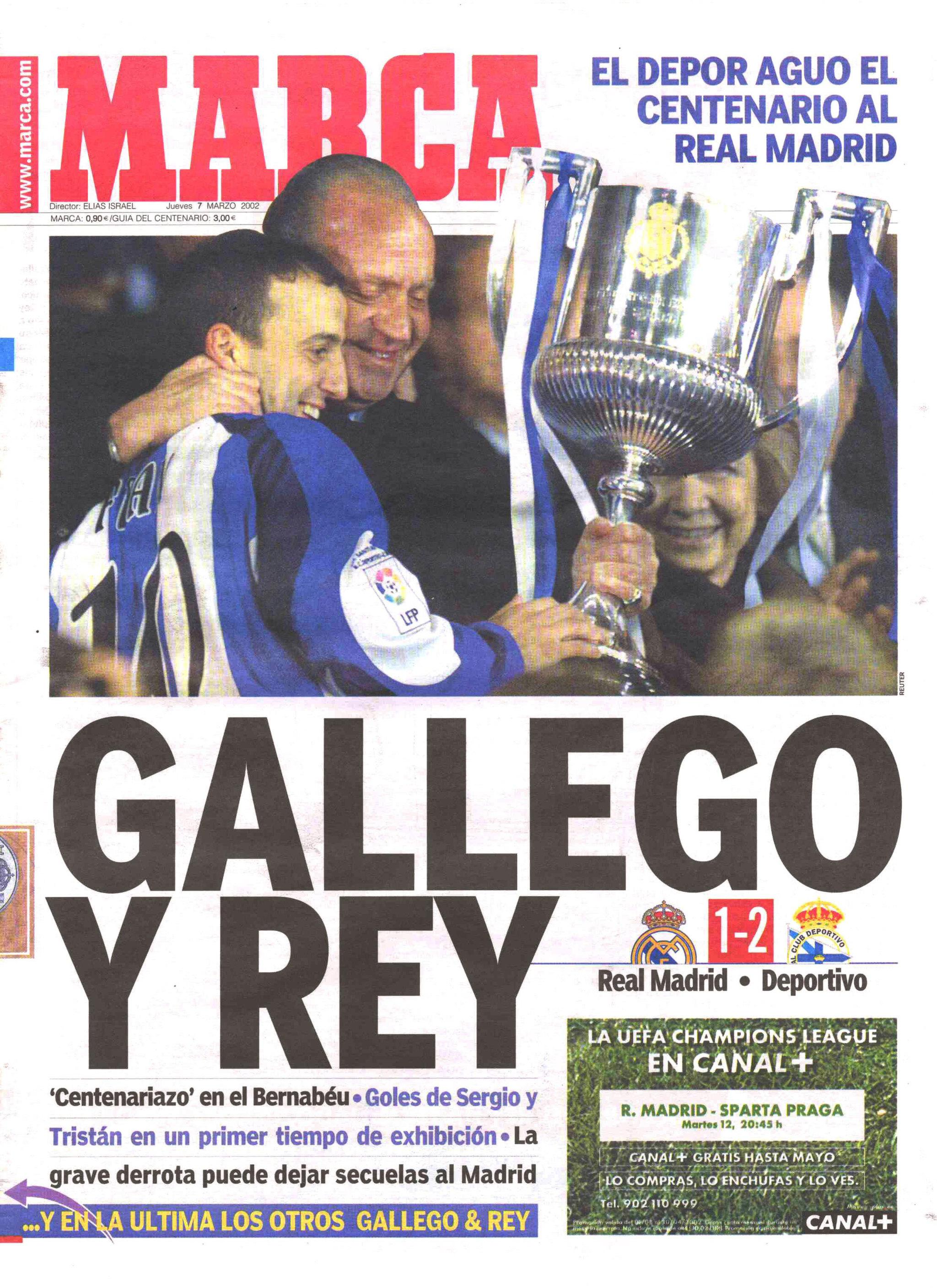 """""""Gallego y Rey"""" fue el titular de MARCA en el día después de la..."""