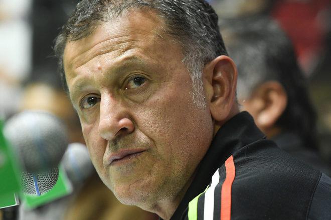 Juan Carlos Osorio, en una conferencia de prensa.