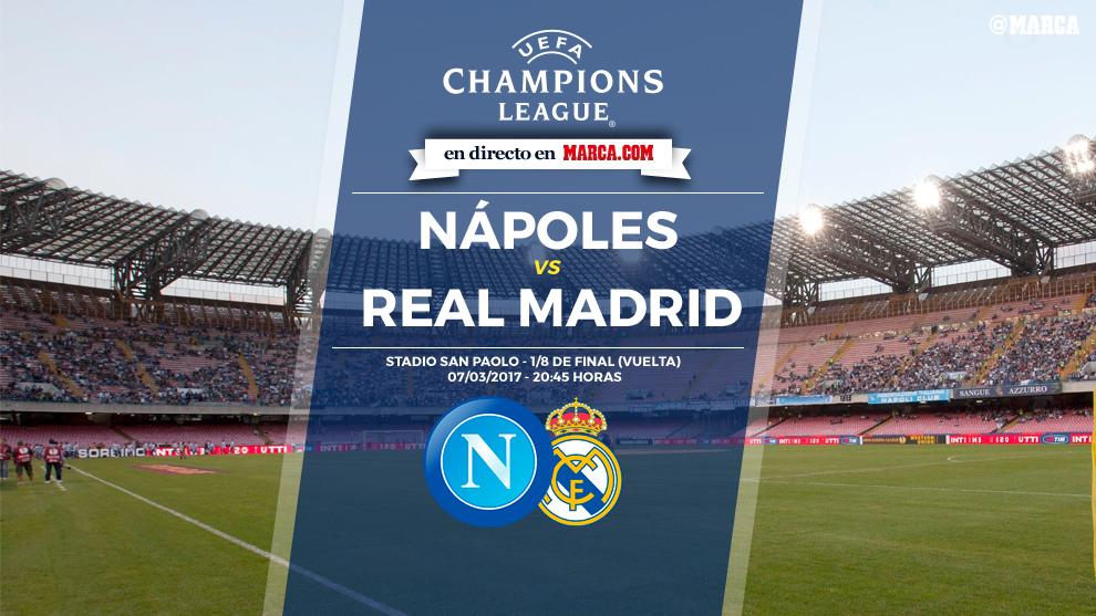 Nápoles vs Real Madrid en directo