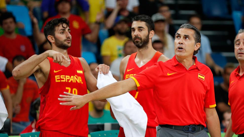 Ricky Rubio y Sergio Scariolo en los Juegos Olímpicos de Río de...