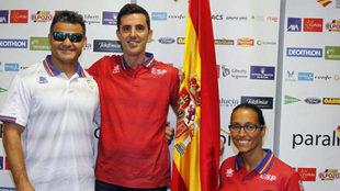 David Casino, José Manuel Ruiz y Teresa Perales, los tres últimos...