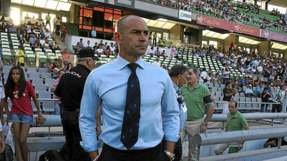 Paco Jémez, durante su etapa en el Córdoba.