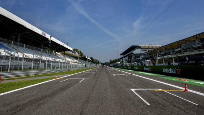 La recta principial del circuito de Monza