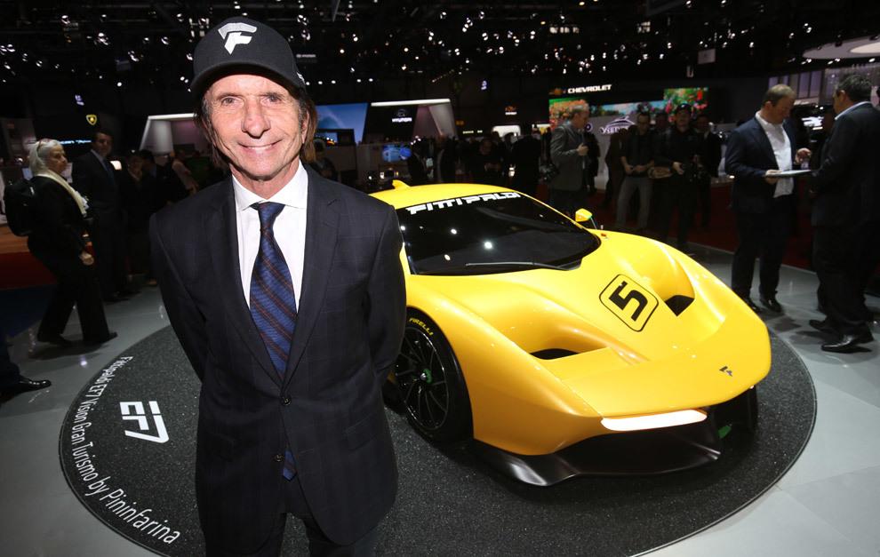 Emerson Fittipaldi con 'su' coche