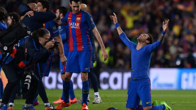 Neymar celebra la victoria de los cul�s.