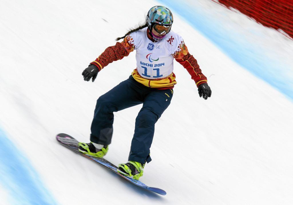 Astrid Fina en los Juegos Paralímpicos de Sochi.