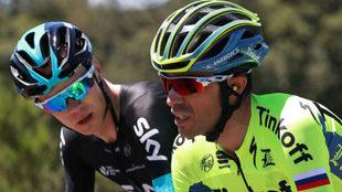 Froome y Contador, en el pasado Tour de Francia, se ver�n las caras...