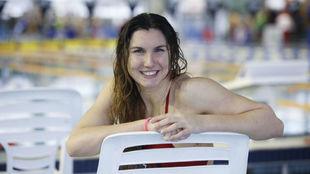 Paula Ruiz posa para MARCA en la piscina del Centro Acuático de...