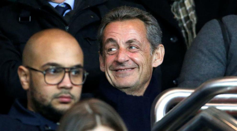 Sarkozy, en una imagen de archivo, durante un encuentro de la Liga...