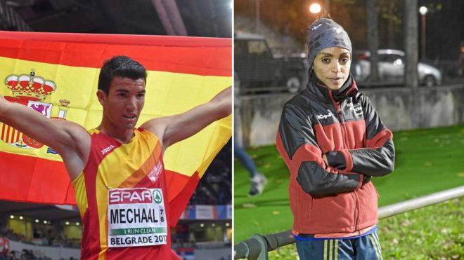 Adel Mechaal y Trihas Gebre.