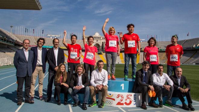 Presentación en Montjuic del Maratón de Barcelona.