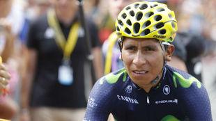 Nairo, ante el inicio de una etapa en el pasado Tour de Francia.