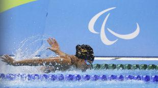 Michelle Alonso en los Juegos Paralímpicos de Río.