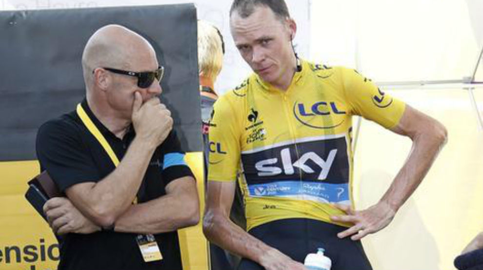 Froome y Brailsford durante el pasado Tour de Francia.