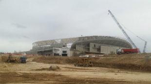 Aspecto de las inmediaciones del Wanda Metropolitano