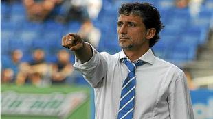 Pablo Alfaro durante un partido de fútbol