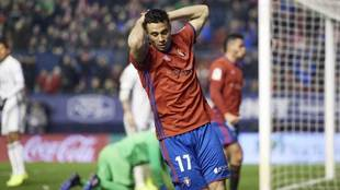 Jaime Romero se lamenta en un momento del partido ante el Real Madrid.