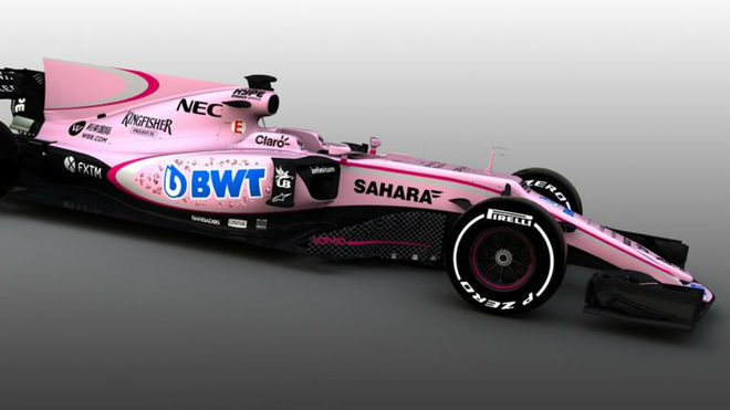 Finalmente, el monoplaza de Force India será de color rosa