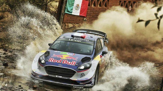 Sebastien Ogier, durante el último Rally de México