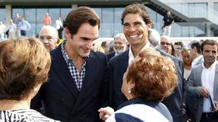 Federer y Nadal, en la Rafa Nadal Academy