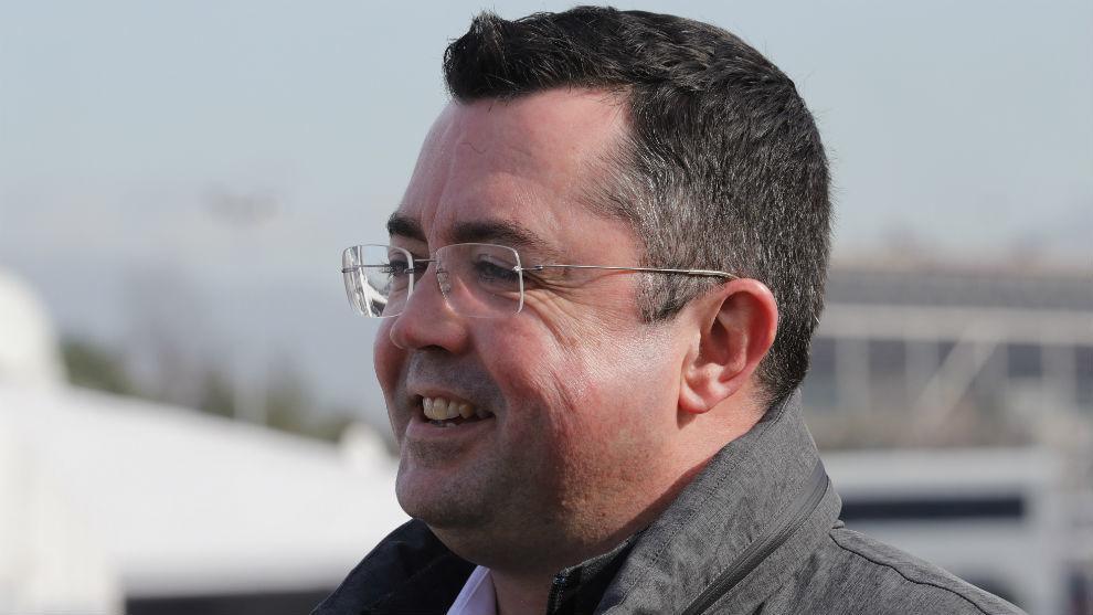 Eric Boullier, en Montmeló