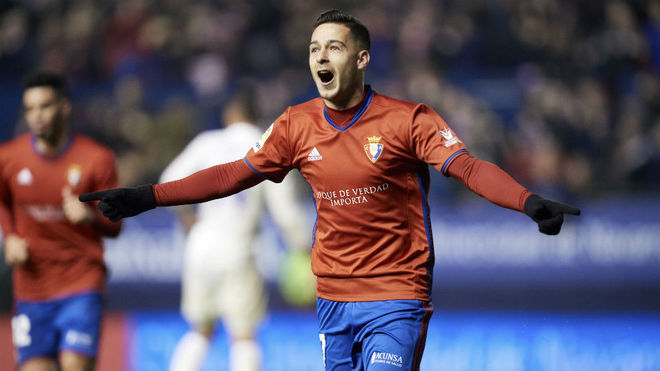 Sergio León celebra un gol esta temporada.