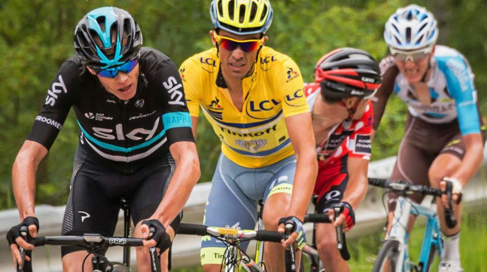 Froome y Contador en el Dauphiné del año pasado.