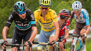 Froome y Contador en el Dauphin� del a�o pasado.