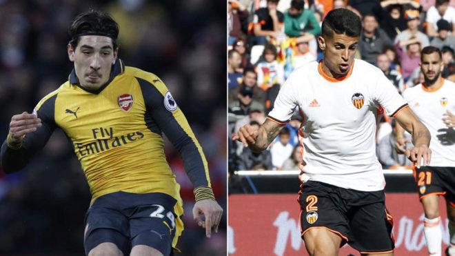 Bellerin & Cancelo.
