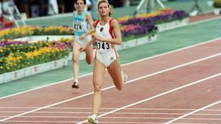 Katrin Krabbe, en Tokio 91