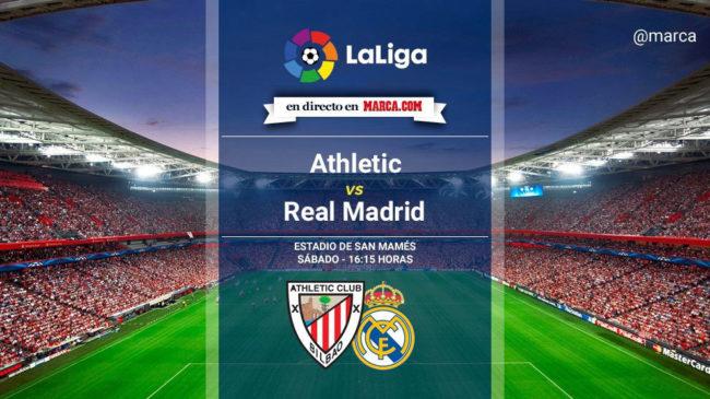 Athletic vs Real Madrid en directo