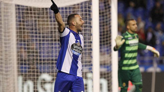 Guilherme en un partido frente al Villarreal.