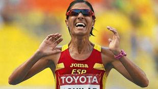 Alessandra Aguilar, en el maratón de Moscú