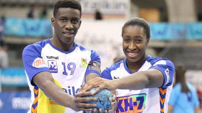 Mamadou y Kaba Gassama, jugadores del Fraikin y del KH-7 Granollers.