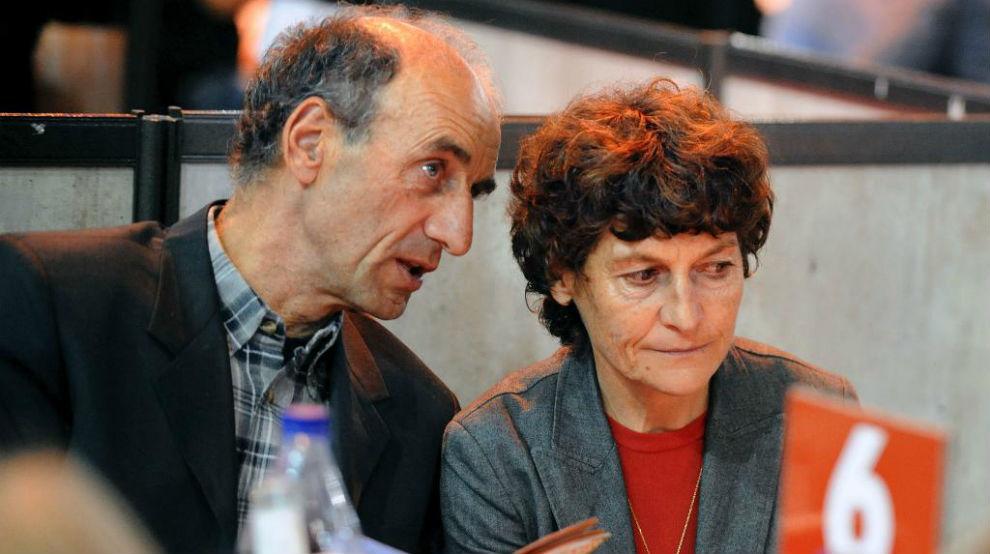 Patrice Ciprelli junto a su mujer Jeannie Longo.