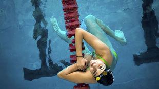 La nadadora siria Yusra Mardin, durante los Juegos Olímpicos de Río.