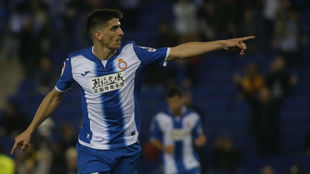 Gerard Moreno celebra un gol durante un encuentro