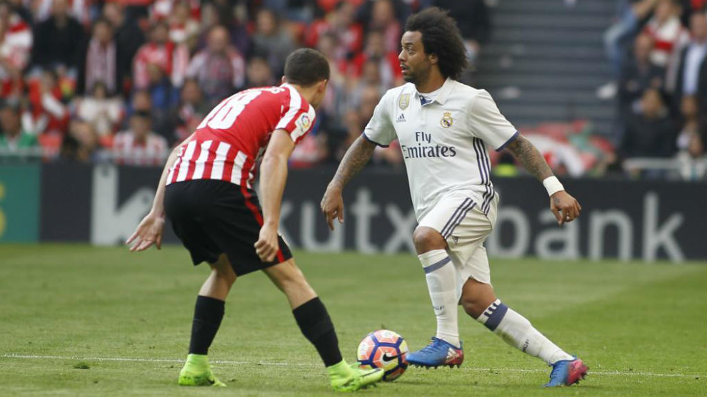 Marcelo en el partido ante el Athletic