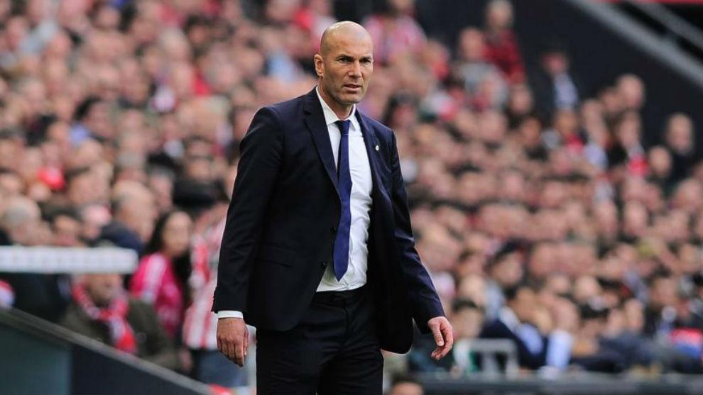 Zidane en el encuentro ante el Athletic